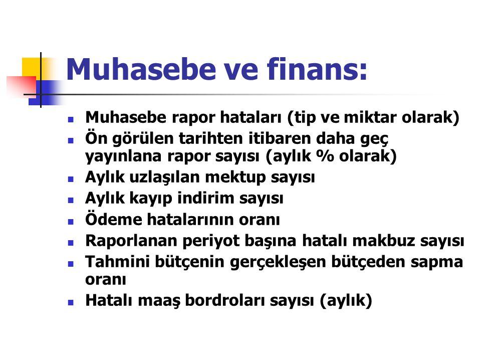 Muhasebe ve finans: Muhasebe rapor hataları (tip ve miktar olarak)