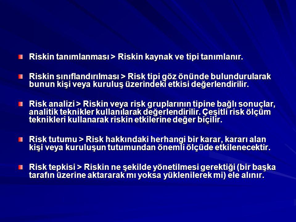 Riskin tanımlanması > Riskin kaynak ve tipi tanımlanır.