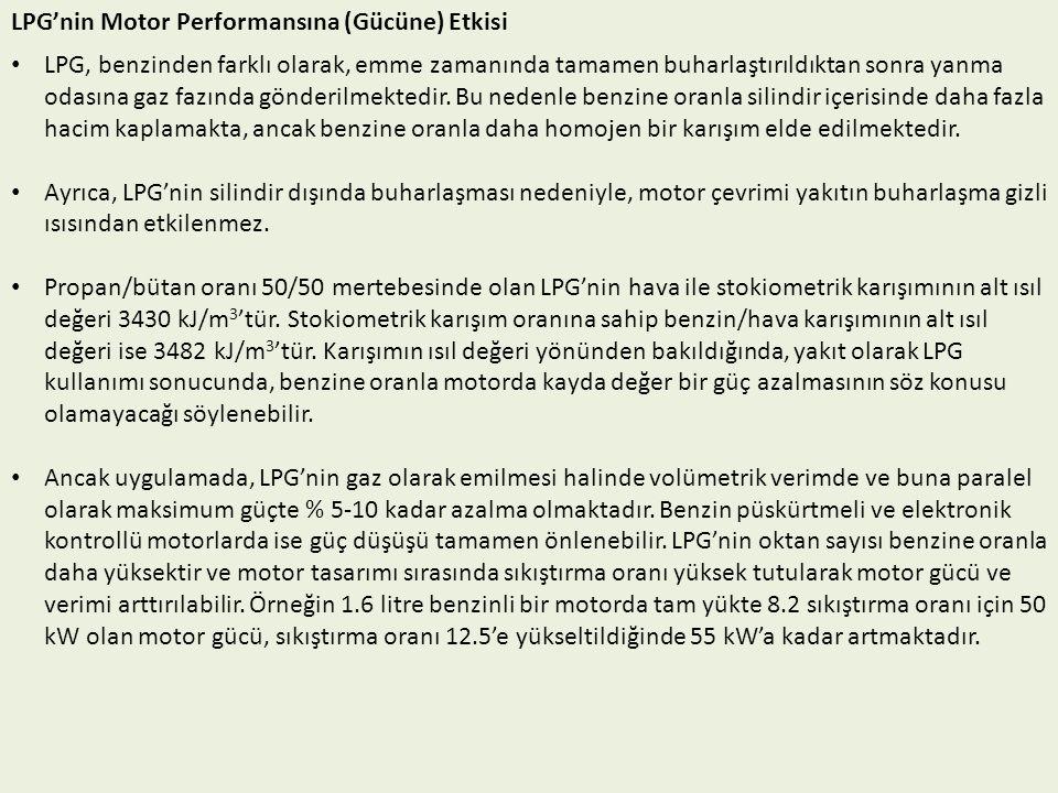 LPG'nin Motor Performansına (Gücüne) Etkisi