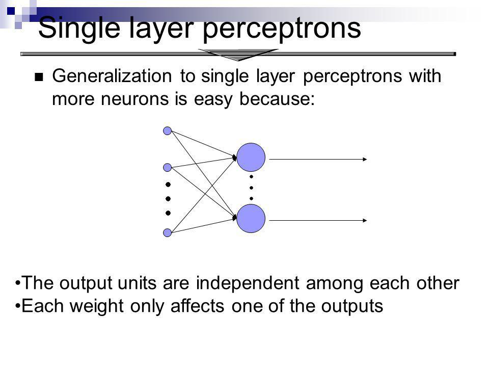 Single layer perceptrons