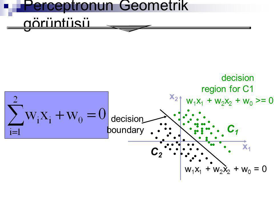Perceptronun Geometrik görüntüsü