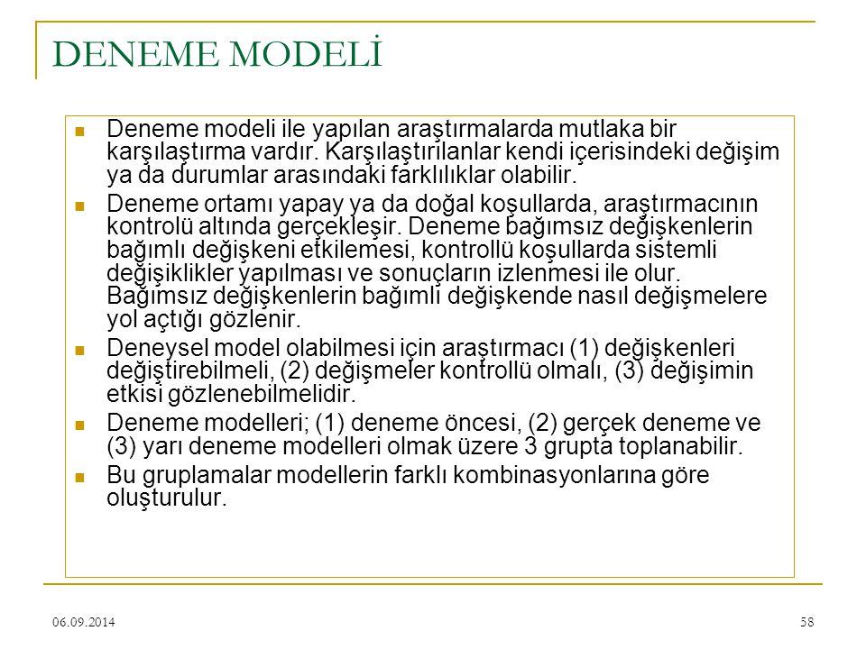 DENEME MODELİ
