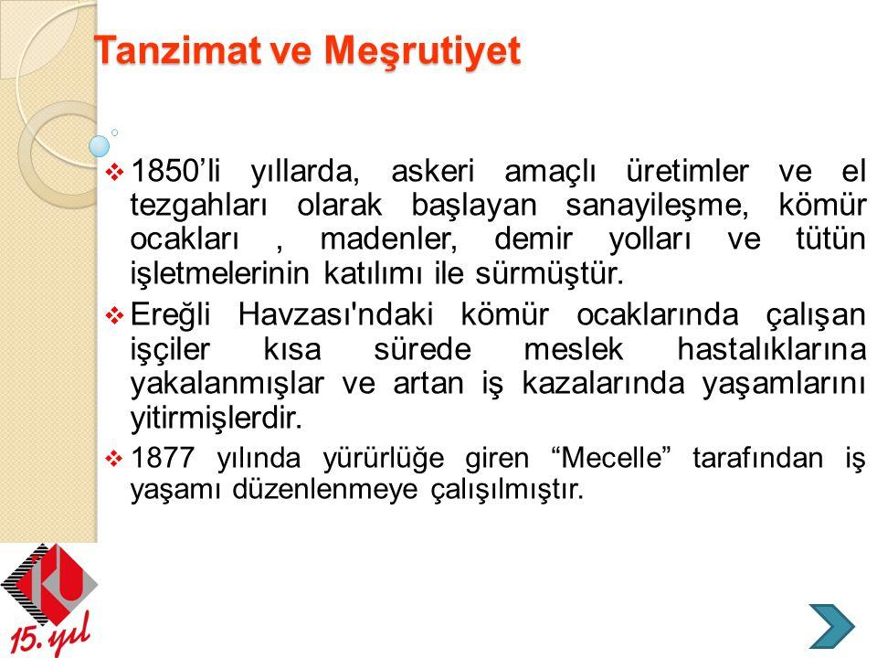 Tanzimat ve Meşrutiyet
