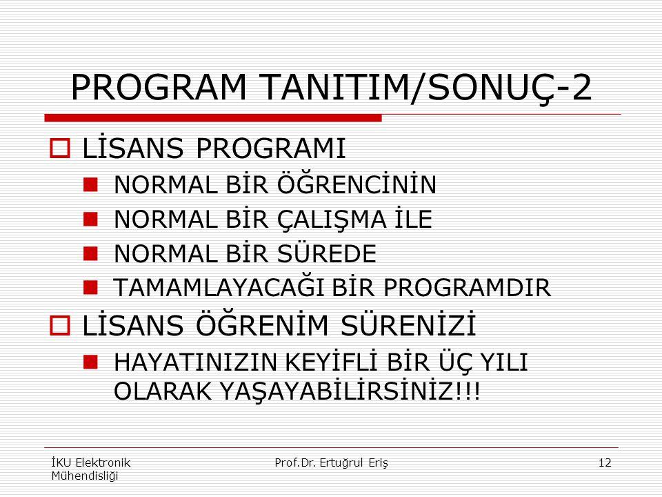 PROGRAM TANITIM/SONUÇ-2