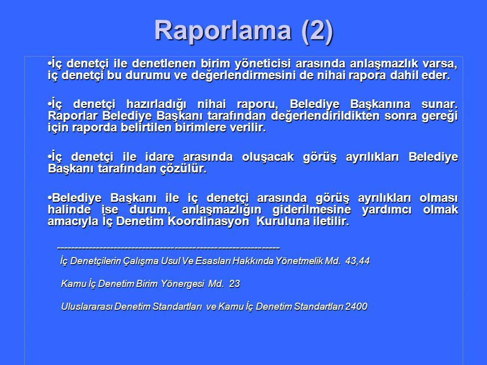 Raporlama (2)
