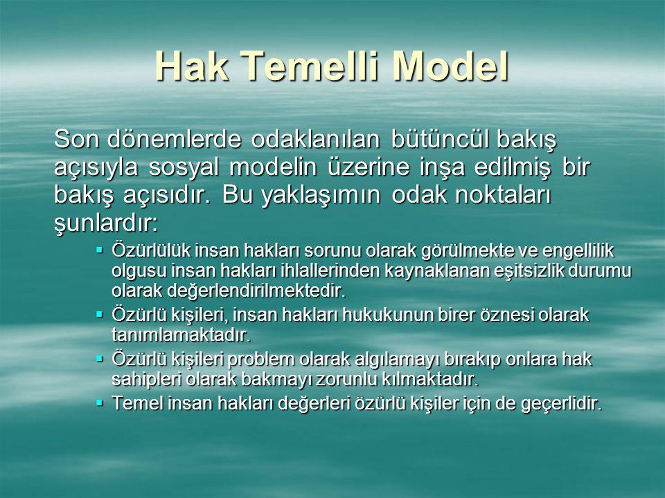 Hak Temelli Model