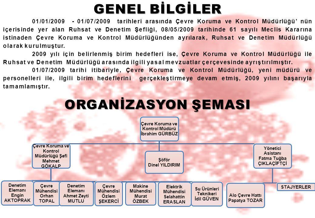 GENEL BİLGİLER ORGANİZASYON ŞEMASI
