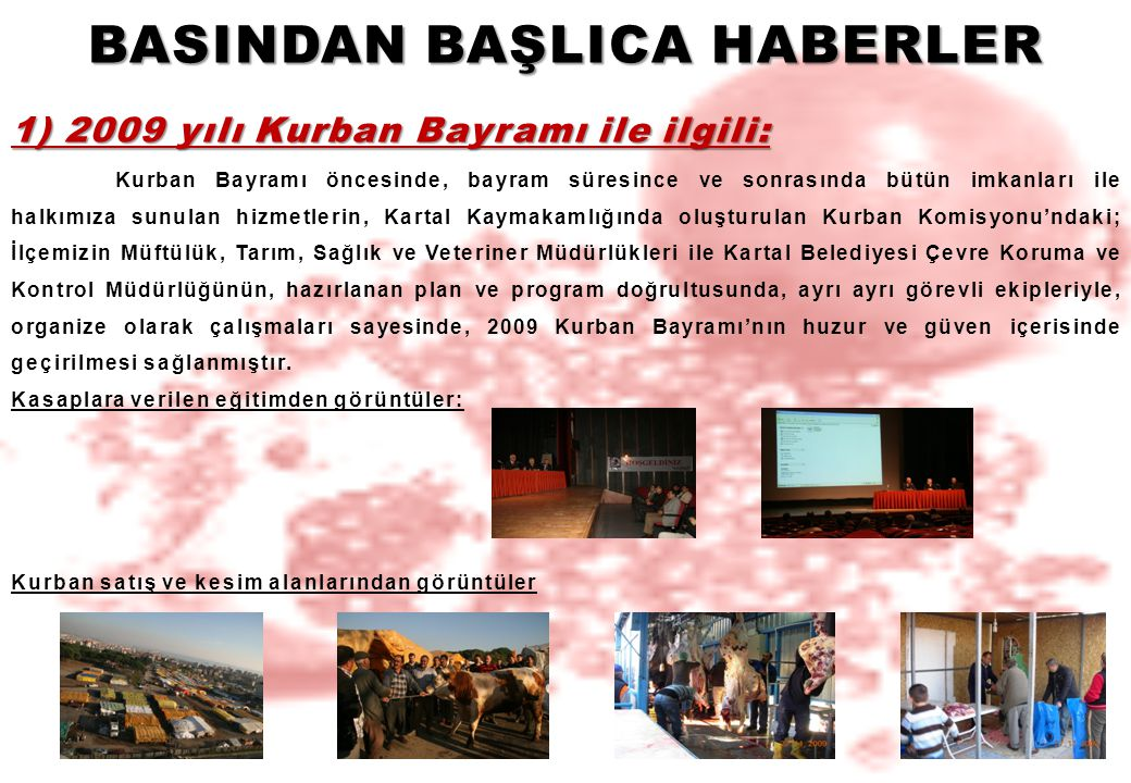 BASINDAN BAŞLICA HABERLER