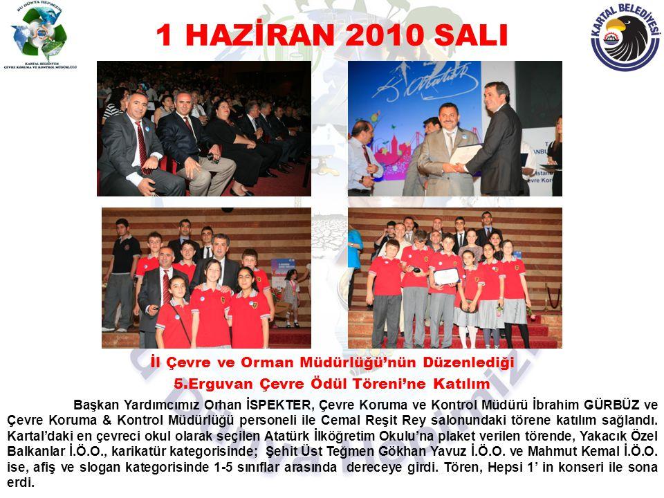 1 HAZİRAN 2010 SALI İl Çevre ve Orman Müdürlüğü'nün Düzenlediği