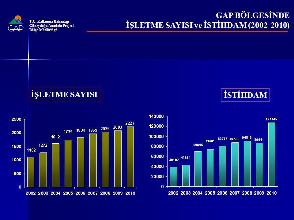 İŞLETME SAYISI ve İSTİHDAM (2002-2010)