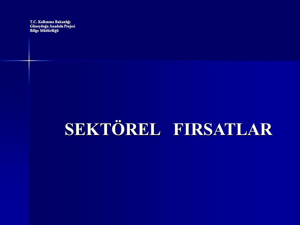 SEKTÖREL FIRSATLAR T.C. Kalkınma Bakanlığı Güneydoğu Anadolu Projesi
