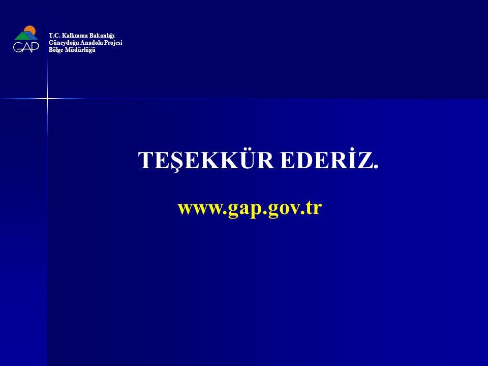TEŞEKKÜR EDERİZ. www.gap.gov.tr T.C. Kalkınma Bakanlığı