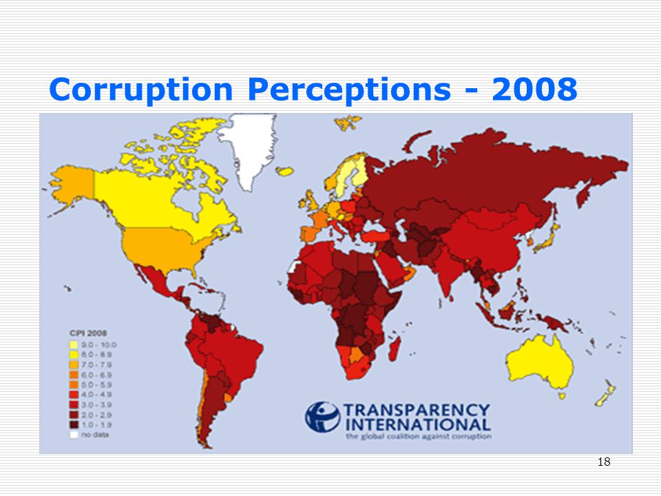Corruption Perceptions - 2008