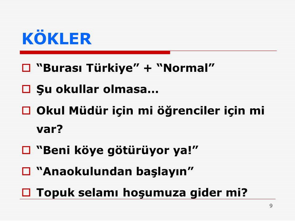 KÖKLER Burası Türkiye + Normal Şu okullar olmasa…