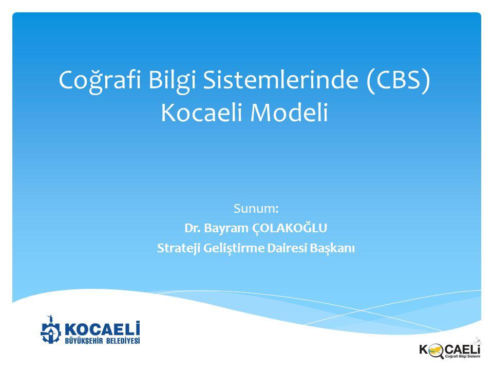 Coğrafi Bilgi Sistemlerinde (CBS) Kocaeli Modeli