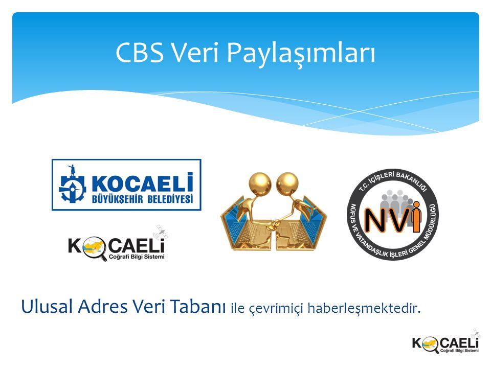 CBS Veri Paylaşımları Ulusal Adres Veri Tabanı ile çevrimiçi haberleşmektedir.