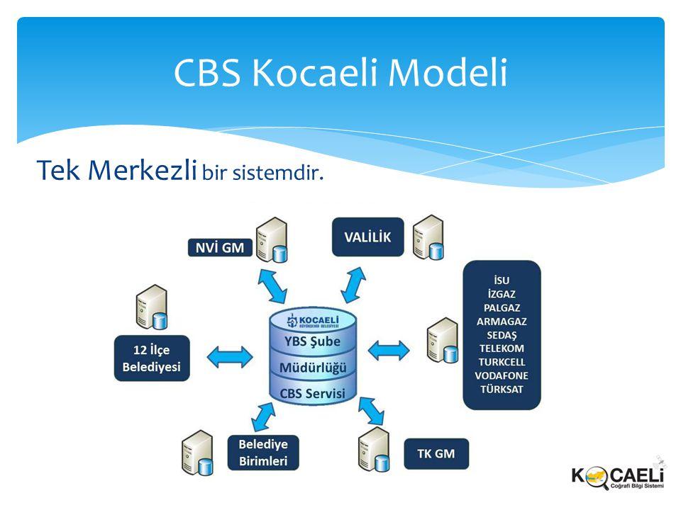 CBS Kocaeli Modeli Tek Merkezli bir sistemdir.