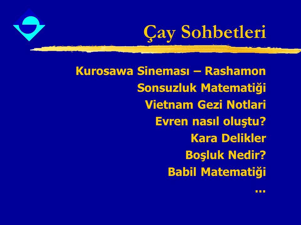 Çay Sohbetleri Kurosawa Sineması – Rashamon Sonsuzluk Matematiği