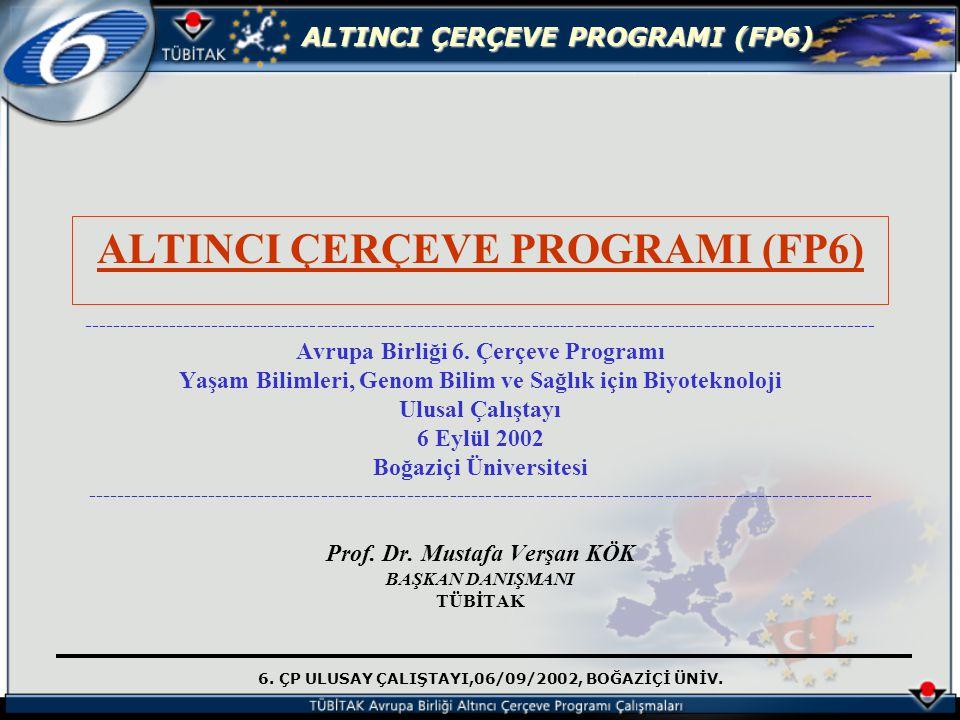 ALTINCI ÇERÇEVE PROGRAMI (FP6)