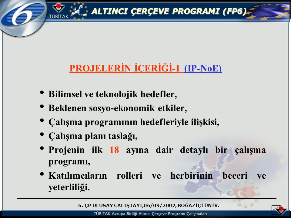 PROJELERİN İÇERİĞİ-1 (IP-NoE)