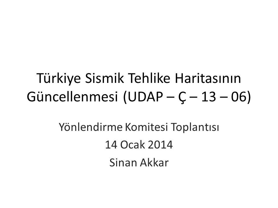 Türkiye Sismik Tehlike Haritasının Güncellenmesi (UDAP – Ç – 13 – 06)