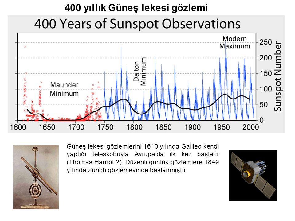 400 yıllık Güneş lekesi gözlemi