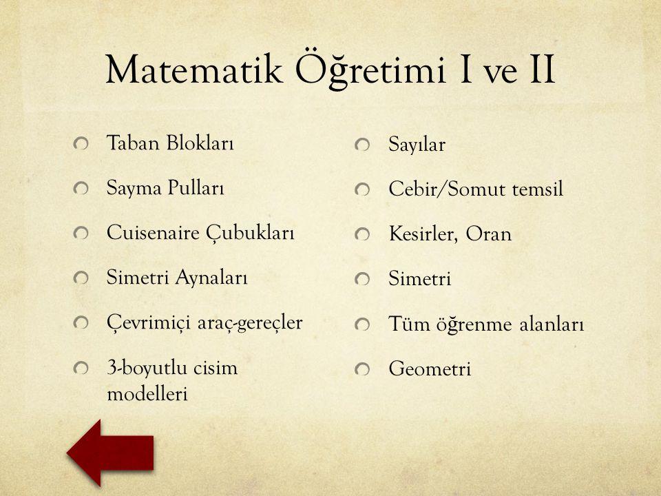 Matematik Öğretimi I ve II
