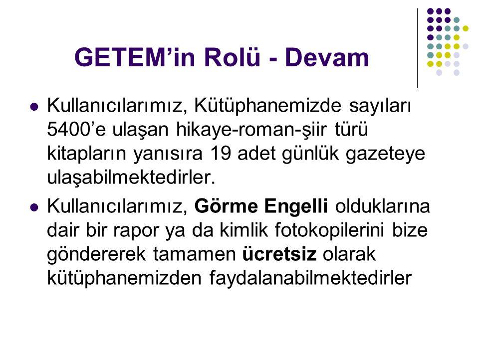 GETEM'in Rolü - Devam
