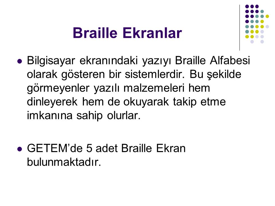Braille Ekranlar