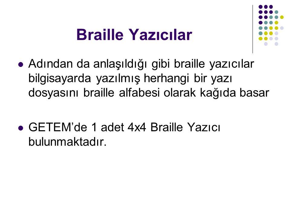 Braille Yazıcılar