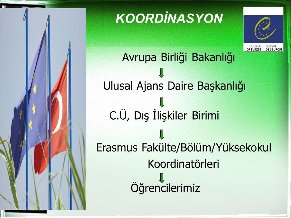 KOORDİNASYON Avrupa Birliği Bakanlığı Ulusal Ajans Daire Başkanlığı