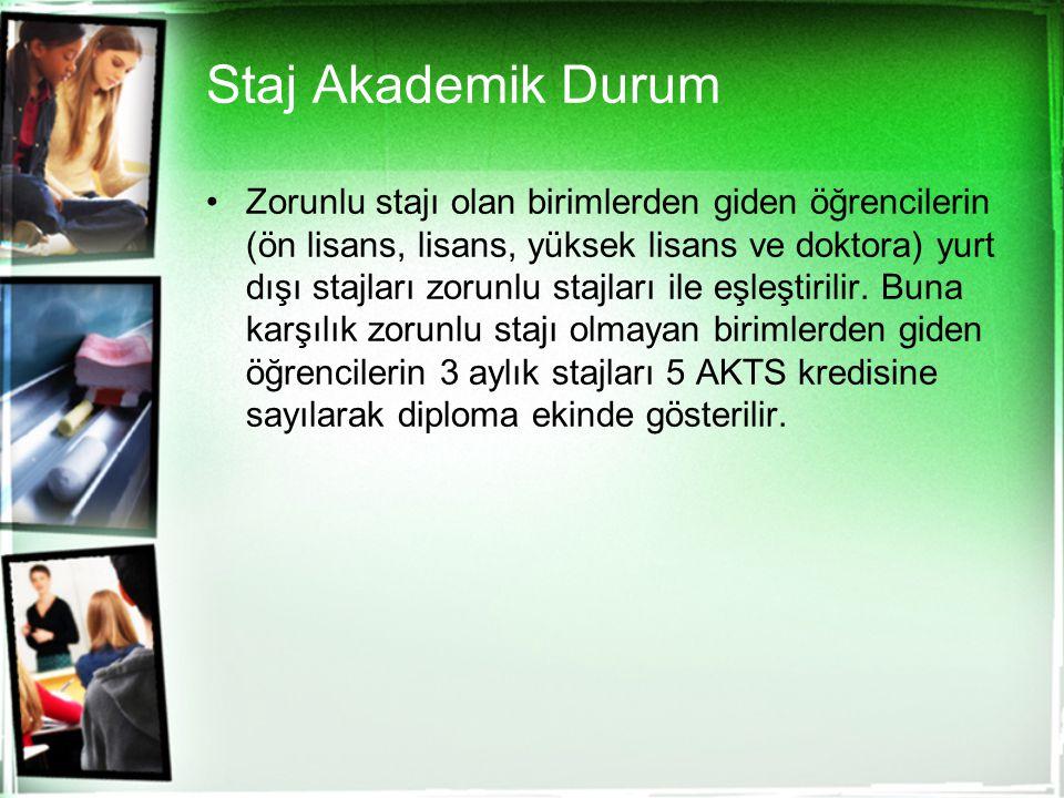 Staj Akademik Durum