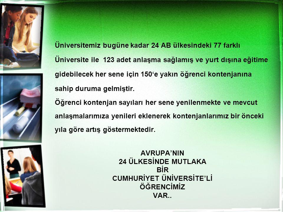 CUMHURİYET ÜNİVERSİTE'Lİ