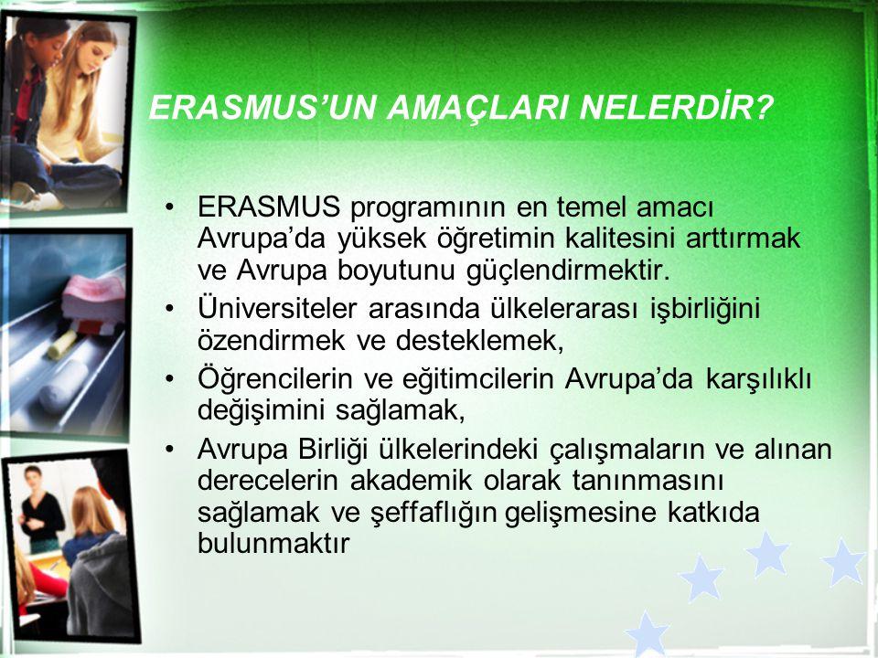 ERASMUS'UN AMAÇLARI NELERDİR