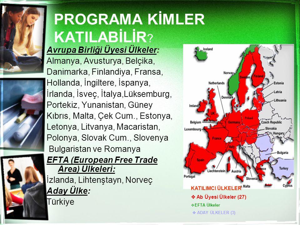 PROGRAMA KİMLER KATILABİLİR
