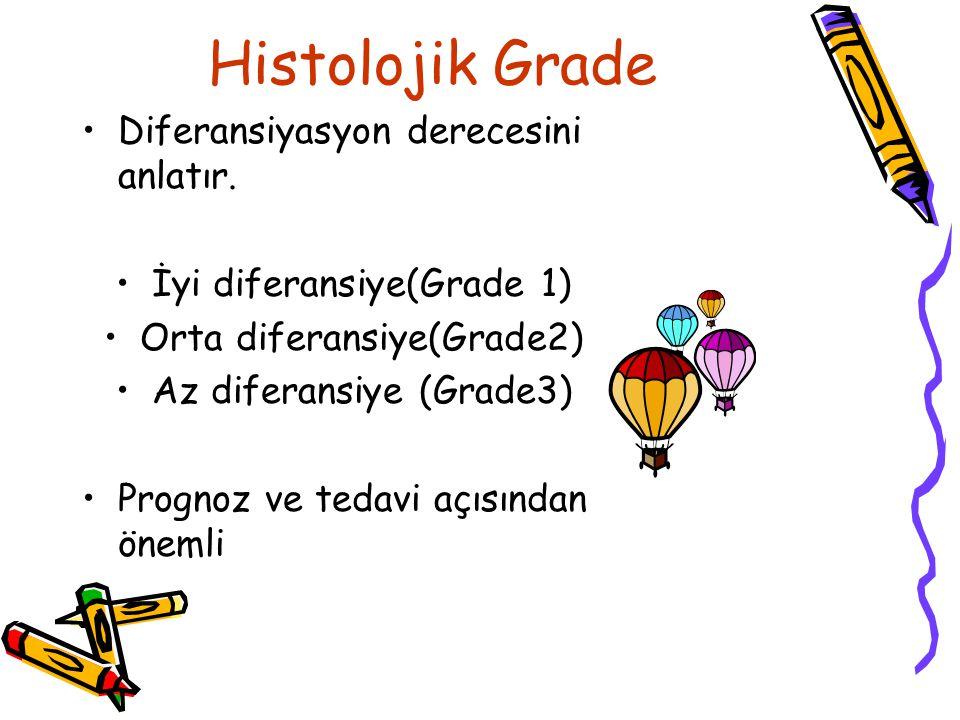 Histolojik Grade Diferansiyasyon derecesini anlatır.