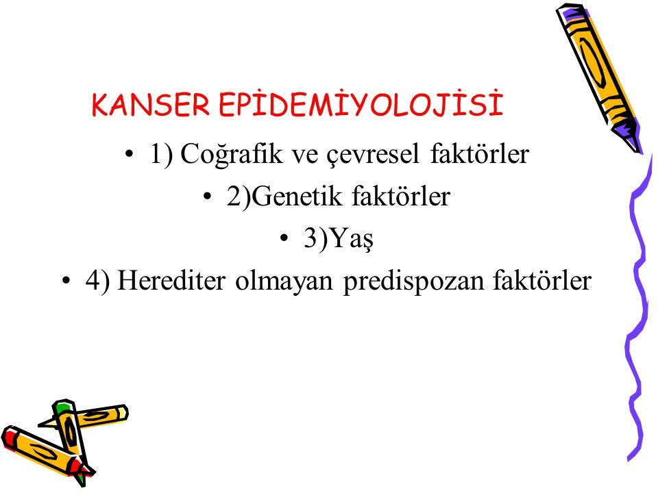 KANSER EPİDEMİYOLOJİSİ