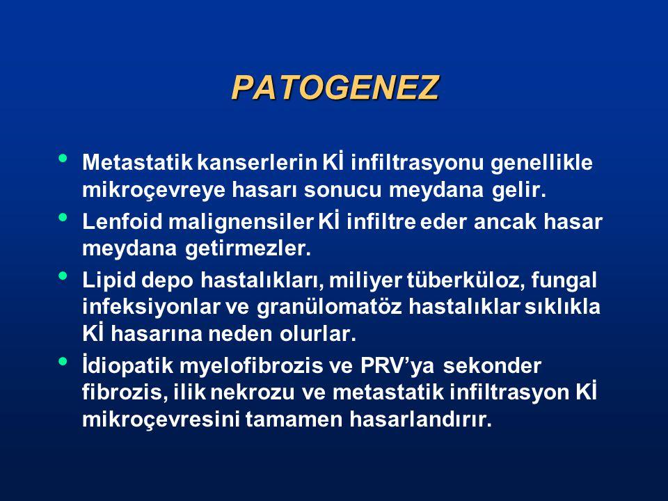 PATOGENEZ Metastatik kanserlerin Kİ infiltrasyonu genellikle mikroçevreye hasarı sonucu meydana gelir.