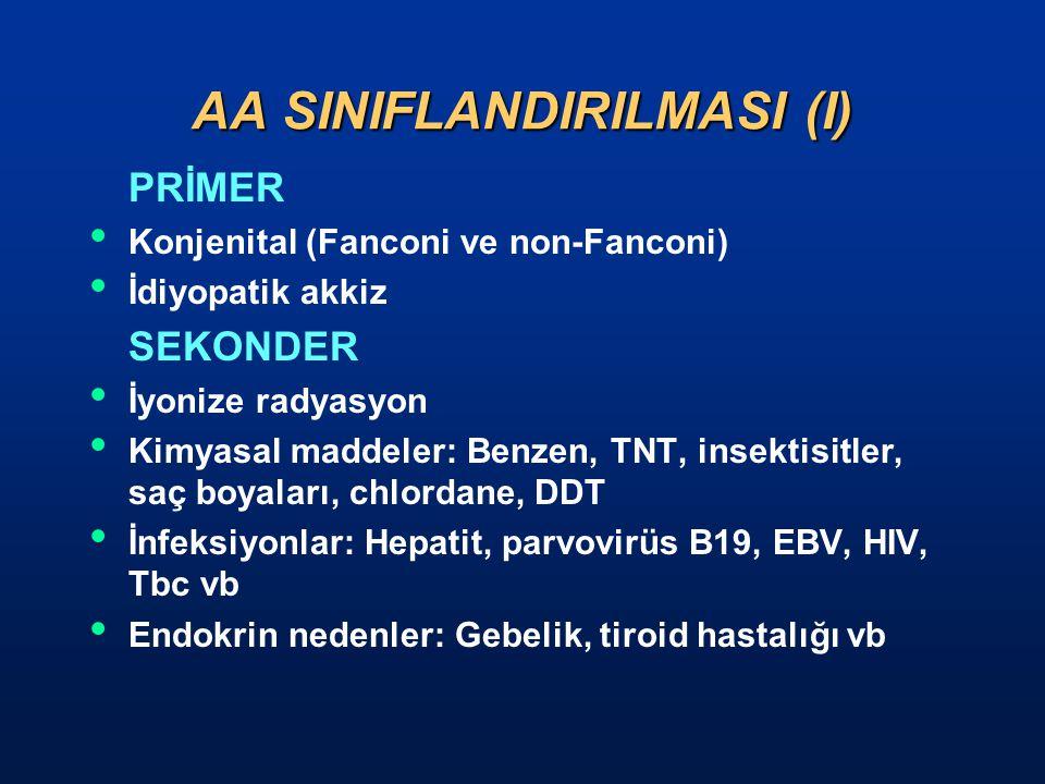 AA SINIFLANDIRILMASI (I)