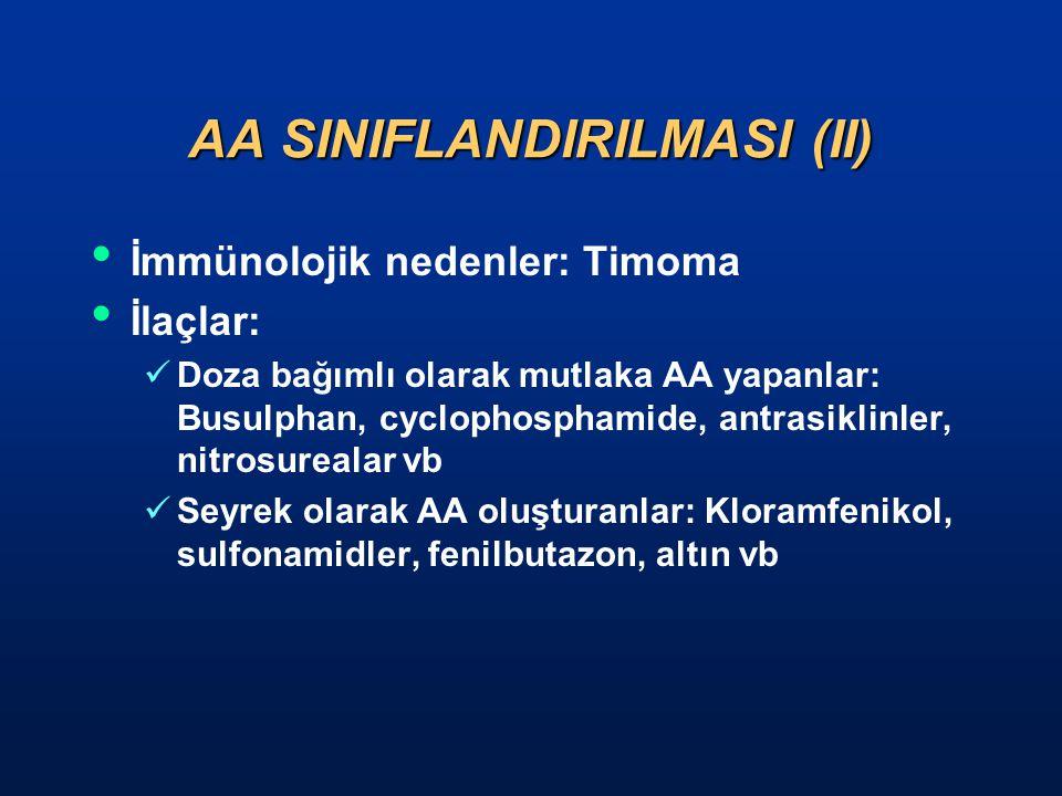 AA SINIFLANDIRILMASI (II)