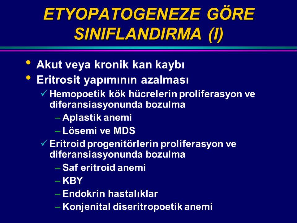 ETYOPATOGENEZE GÖRE SINIFLANDIRMA (I)