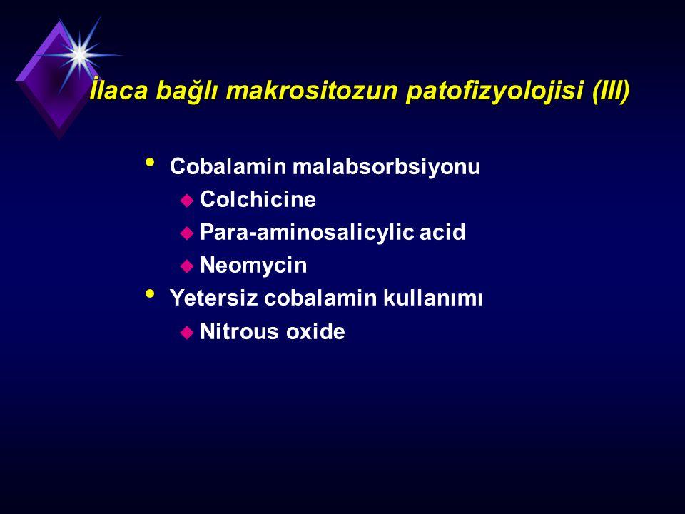 İlaca bağlı makrositozun patofizyolojisi (III)