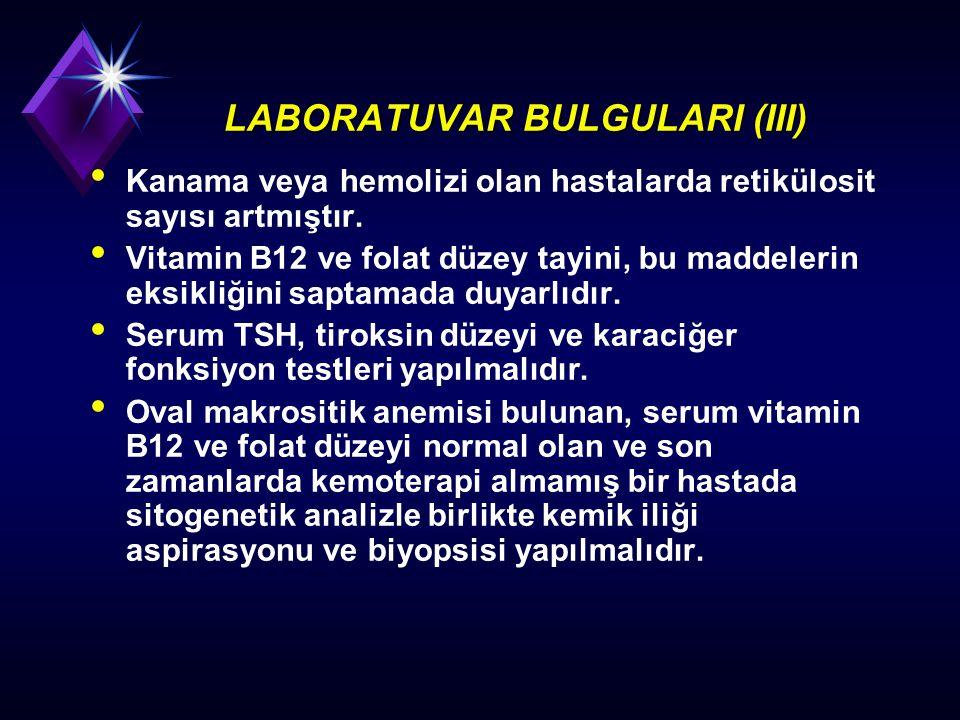 LABORATUVAR BULGULARI (III)
