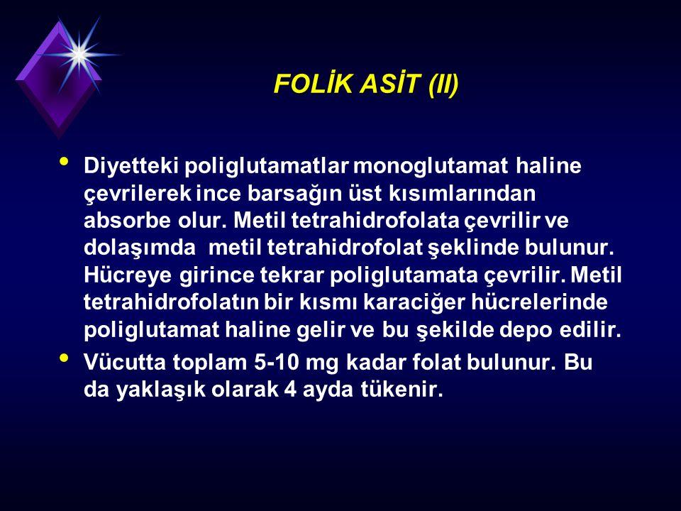 FOLİK ASİT (II)