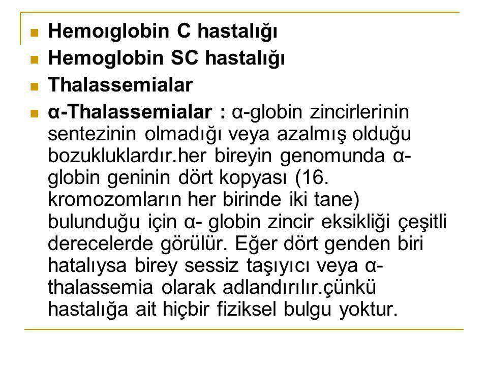 Hemoıglobin C hastalığı