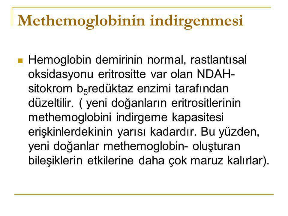 Methemoglobinin indirgenmesi
