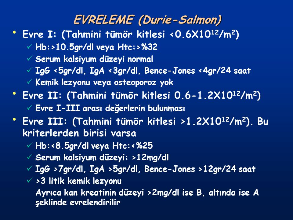 EVRELEME (Durie-Salmon)