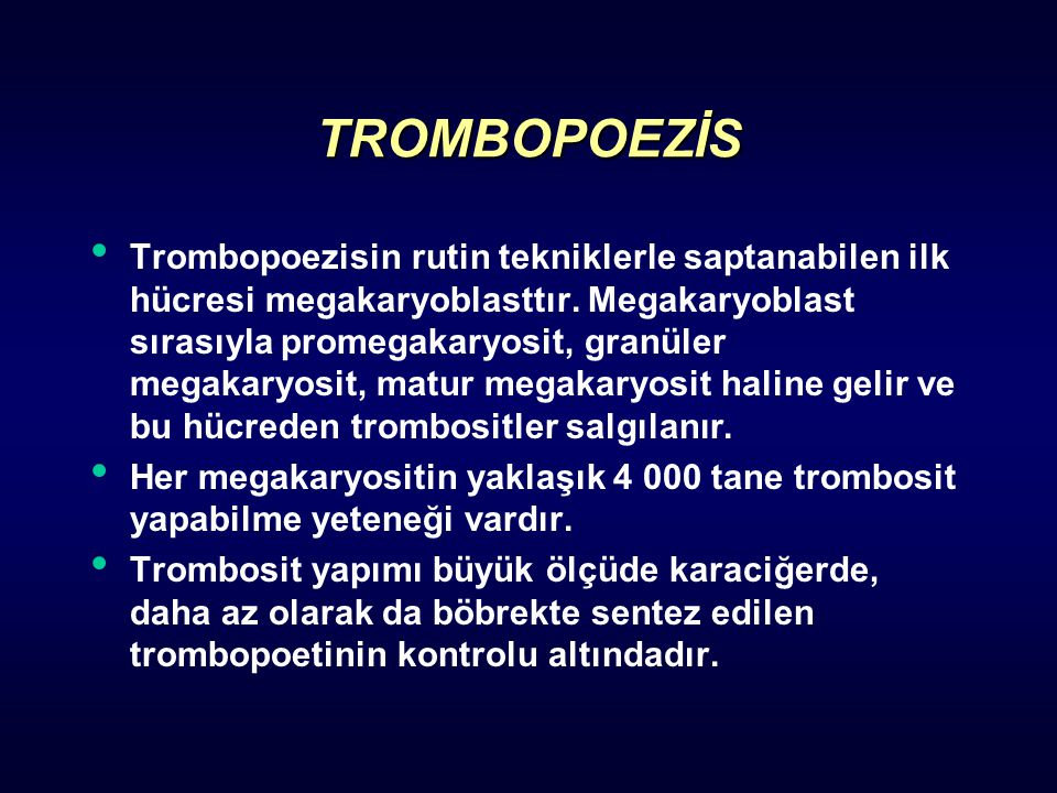 TROMBOPOEZİS