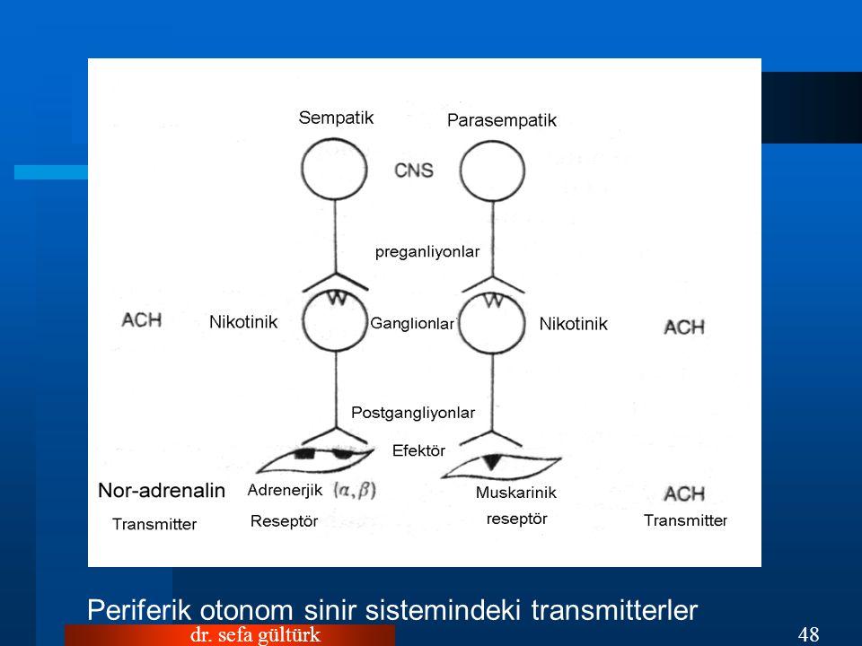Periferik otonom sinir sistemindeki transmitterler