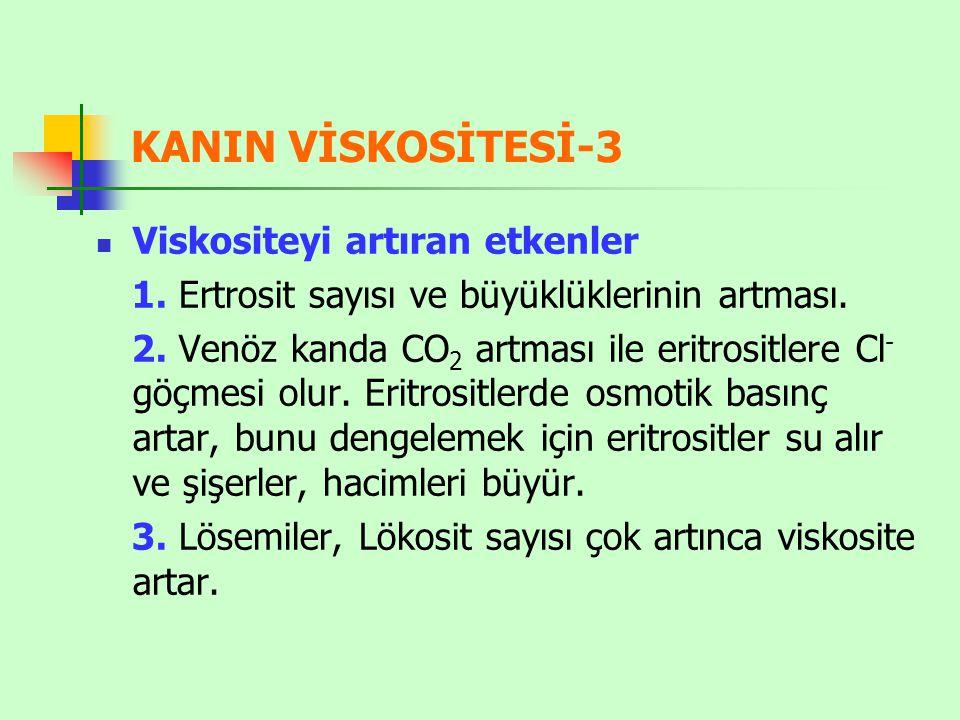 KANIN VİSKOSİTESİ-3 Viskositeyi artıran etkenler